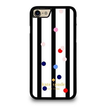 KATE SPADE STRIPE POLKADOTS iPhone 4/4S 5/5S/SE 5C 6/6S 7 8 Plus X Case