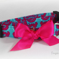 Pink And Blue Party Dog Collar Size XS through Large by Doogie Couture Pet Boutique