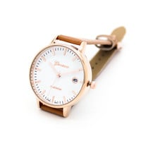 Classic date strap watch (4 colors)