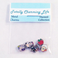 Disney Princess Snow White 5pc Character Floating Charm Themed Set fits Living Memory Foating Locket Necklace Jewelry