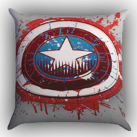 Captain America Logo art Z1656 Zippered Pillows  Covers 16x16, 18x18, 20x20 Inches