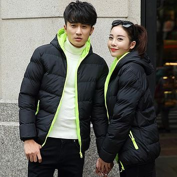 Warm Outwear Winter Jacket Men Windproof Hood Men Women Love Jacket Size High Quality Jacket 6 Colors Plus Size S-4XL