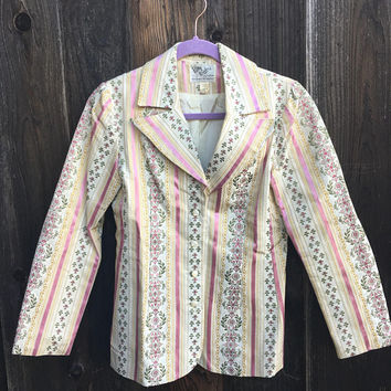 1970s Vintage Jacket / Brocade Jacket / Silk Jacket / Stage Jacket / Patty Woodard