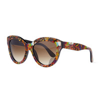 Camouflage Butterfly Sunglasses - Valentino