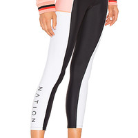 P.E Nation Without Limits Legging in Black & White   REVOLVE