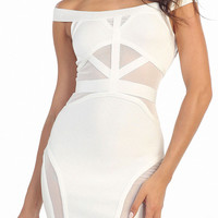 Nightingale Bandage Dress in White