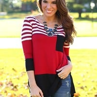 Pocket Full of Sunshine Tunic in Red