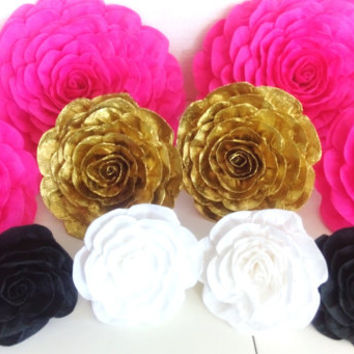 8 kate giant paper flowers spade Wall display kate bridal baby shower Photo backdrop Wedding paper flower wall arch birthday party Nursery