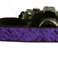 dSLR Camera Strap. Purple Camera Strap. Women Accessories.