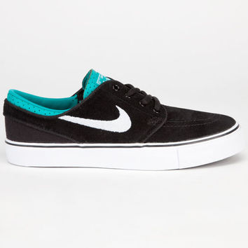 Nike Sb Stefan Janoski Boys Shoes Black/White/Turbo Green  In Sizes