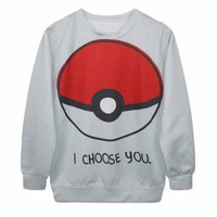 "Women Pokemon ""I Choose You"" Sweatshirt"
