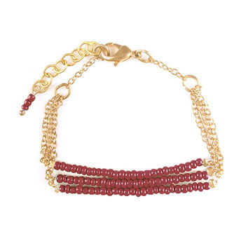 Beaded Arya Bracelet - Red