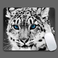 White Snow Leopard  Mouse Pad Computer Gaming MousePads