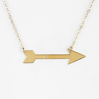 Miriam Merenfeld Engraved Love Arrow Necklace - Urban Outfitters