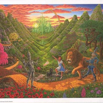 Wizard of Oz Tom Masse Art Poster 22x32