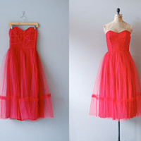 1950s dress / 50s party dress / Fools Rush In by DearGolden