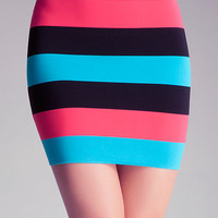 Color Stripe Skirt