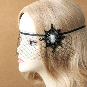 Accessories Veil Handmade Personalized Hair Accessory Fun Female Half Face Mask Dance Party