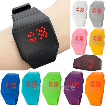 2014 new Unisex Ultra-Thin Boy Girl Touch Screen LED Digital Silicone Casual Wrist Watch = 1946045764