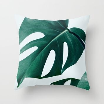 Monstera #society6 #artprints #buyart Throw Pillow by 83 Oranges™