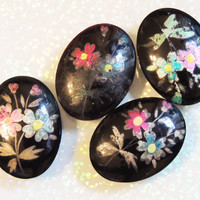 Russian Hand Painted Cabochon for Jewelry Making