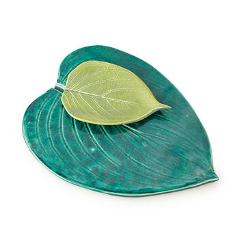 Leaf Platter Set | Earthenware, Women's Shelter
