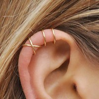 Set of 2 Criss Cross Ear Cuff Cartilage