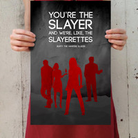 "Buffy the Vampire Slayer: The Scoobies - ""Slayerettes"" Digital Art 11x17 Poster Print"