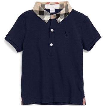 Infant Boy's Burberry 'William' Cotton Polo