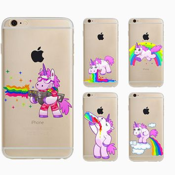 Cute and Funny Unicorn Cell Phone Case Cover for iPhone 6, 6 Plus, 5, 5S and SE