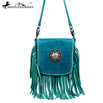 Turquoise Leather Cross Body Montana West Bag RLC-L080