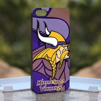 NFL MINNESOTA VIKINGS logo, Print on Hard Cover iPhone 5 Black Case