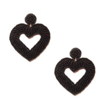 With Every Heart Bead Statement Earring