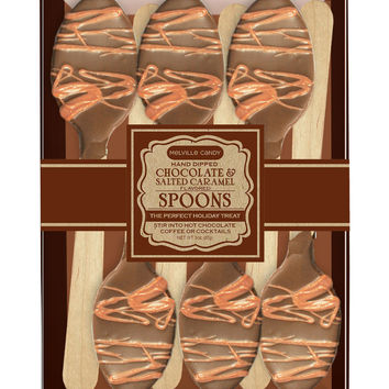Salted Caramel & Chocolate Dipped Spoons Gift Set