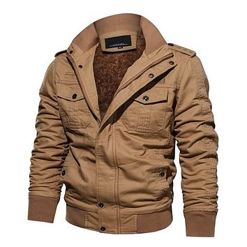 Thick Thermal Cargo Pilot Jacket