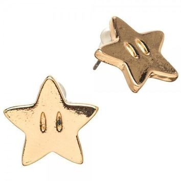 MPJ Nintendo Super Mario Star Earrings