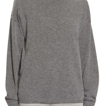 Women's Earnest Sewn 'Dylan' Cashmere Boyfriend Sweater,