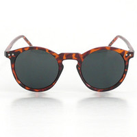 O'Malley Tortoise Round Frame Smoke Lens Sunglasses / Great Holiday Gift!