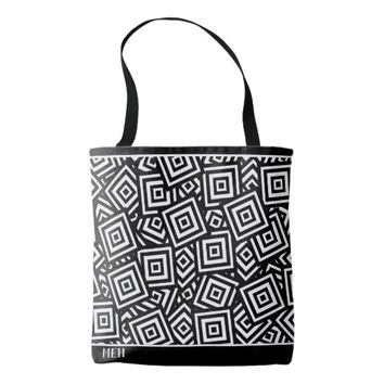 BW Square Pile Minor Monogram Tote Bag