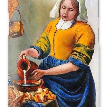 Milk Maid After Vermeer - Phone Case 2