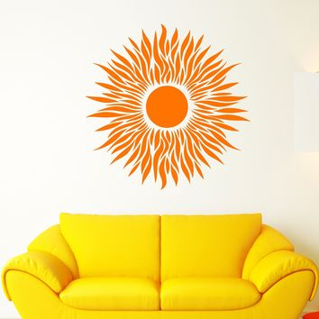 Vinyl Wall Decal Art Sun Flower Bud Interior Design Stickers (3009ig)