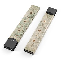 Skin Decal Kit for the Pax JUUL - Aged Aqua SemiCircles with Polka Dots