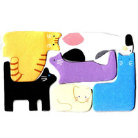 Mixed Kitty Cat Shaped Memo Pad Post-it Index Tab Sticky Notes Tabs | Cute Animal Pet Themed Scrapbook Supplies