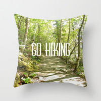 Go Hiking Throw Pillow by JKimberly