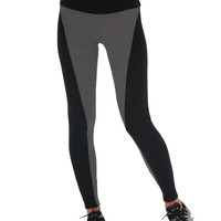 Gray Mid Waist Yoga Pants