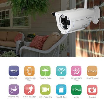 Sricam SP007 Outdoor Waterproof CCTV Home Security Protection Remote Control Onvif WIFI Network IP Camera Phone Control
