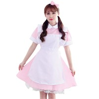 2017 Halloween Christmas Women Alice in Wonderland Costumes Sexy Maid Girl Lolita Dress Cosplay Anime Clothes