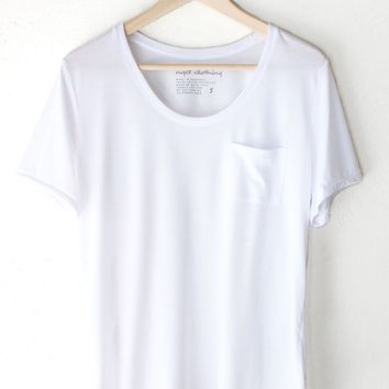 Basic Pocket Tee - White