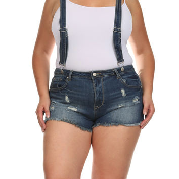 Plus Size Out And About Distressed Denim Overalls, Plus Size Clothing, Club Wear, Dresses, Tops, Sexy Trendy Plus Size Women Clothes