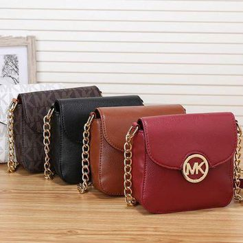 ESBON Michael Kors' Simple Casual Fashion Letter Print Metal Chain Single Shoulder Messenger Bag MK Women Small Bag